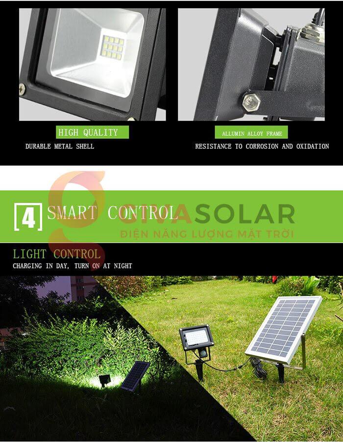 Đèn pha Led năng lượng mặt trời GV-120 10