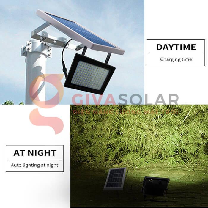 Đèn pha Led năng lượng mặt trời GV-120 11