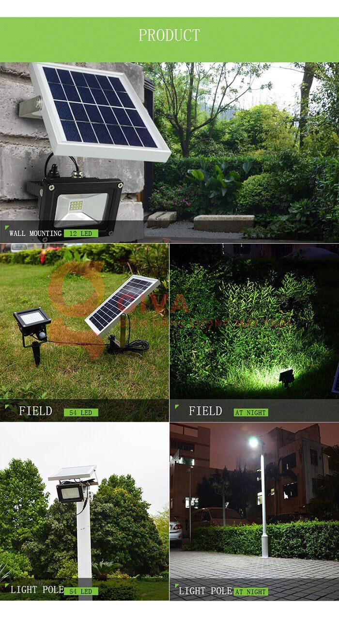 Đèn pha Led năng lượng mặt trời GV-120 12