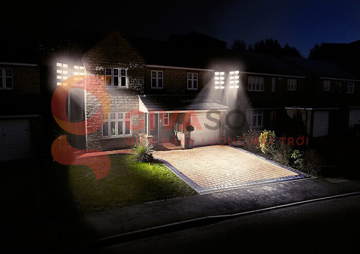 Đèn LED pha năng lượng mặt trời GV-PB001 1