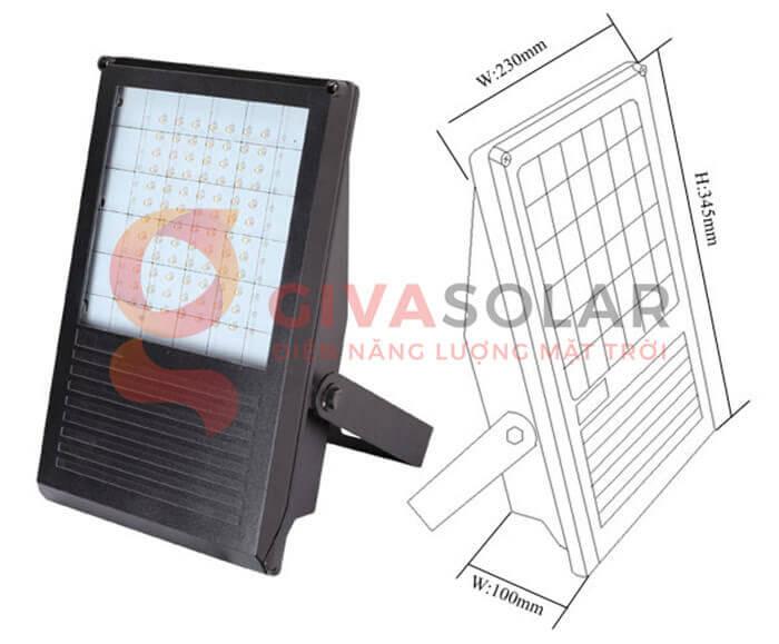 Đèn LED pha năng lượng mặt trời GV-PB001 10