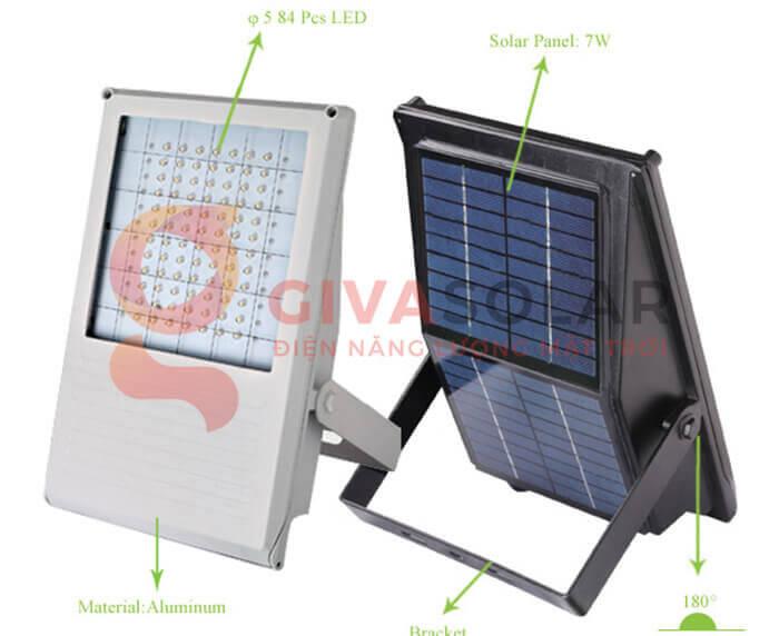 Đèn LED pha năng lượng mặt trời GV-PB001 8