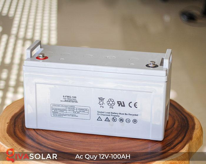 Ắc quy dùng cho hệ thống năng lượng mặt trời 12V100Ah 1