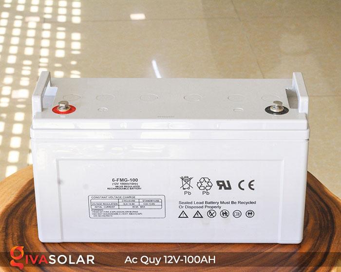 Ắc quy dùng cho hệ thống năng lượng mặt trời 12V100Ah 2