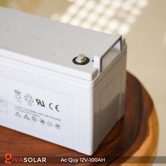 Ắc quy dùng cho hệ thống năng lượng mặt trời 12V100Ah 8