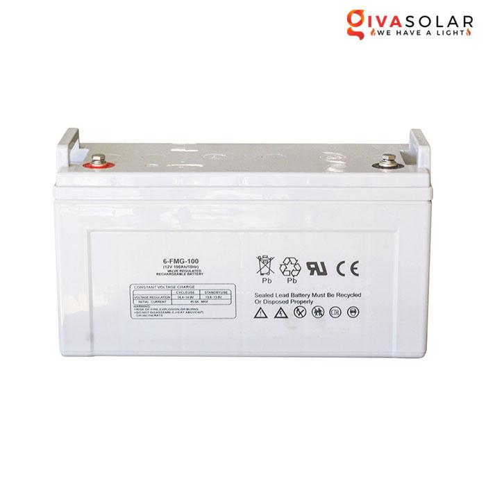 Ắc quy dùng cho hệ thống năng lượng mặt trời 12V100Ah
