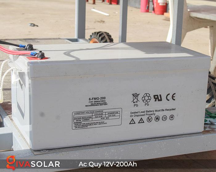 Acquy cho hệ thống điện năng lượng mặt trời 12V200Ah 1
