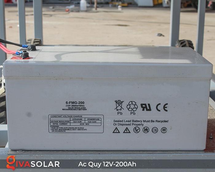 Acquy cho hệ thống điện năng lượng mặt trời 12V200Ah 4