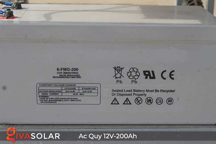 Acquy cho hệ thống điện năng lượng mặt trời 12V200Ah 5
