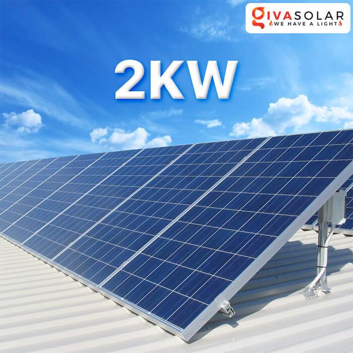 Hệ thống năng lượng mặt trời cho hộ gia đình 2KW