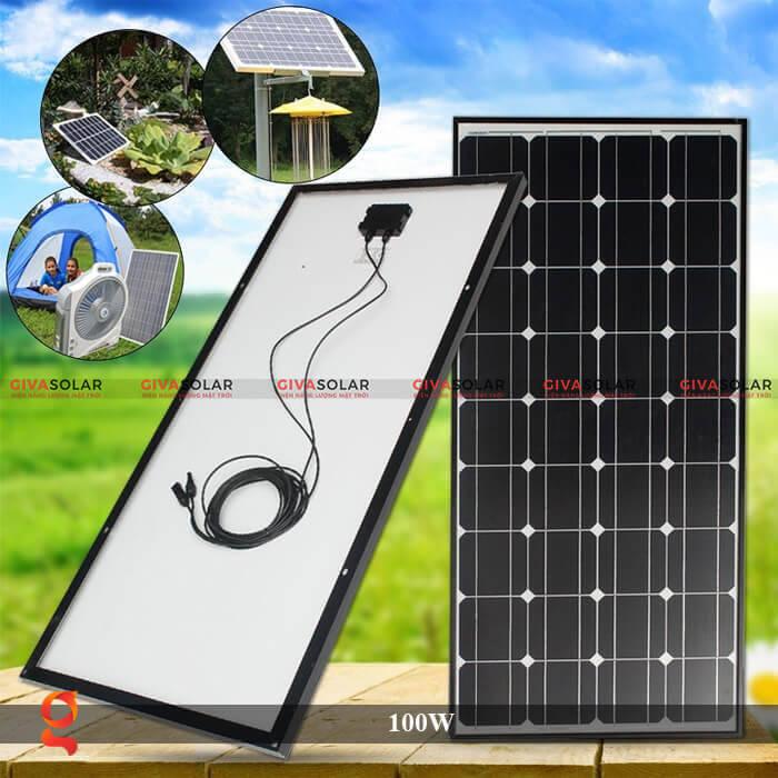 Tấm pin năng lượng mặt trời GV Mono 100W 2