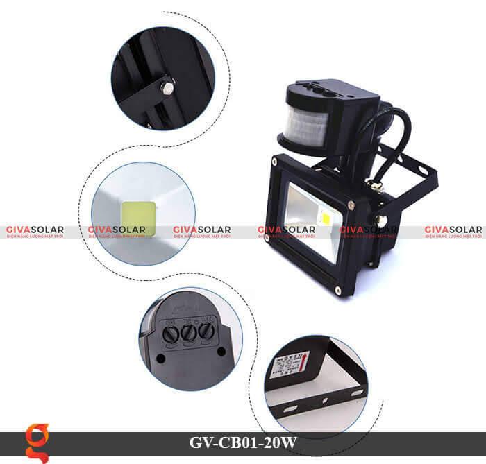 Đèn led cảm biến chuyển động GV-CB01-20W 4
