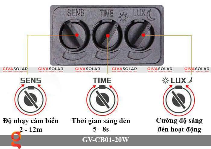 Đèn led cảm biến chuyển động GV-CB01-20W 5