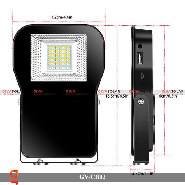 Đèn led đa năng cầm tay GV-CB02 7