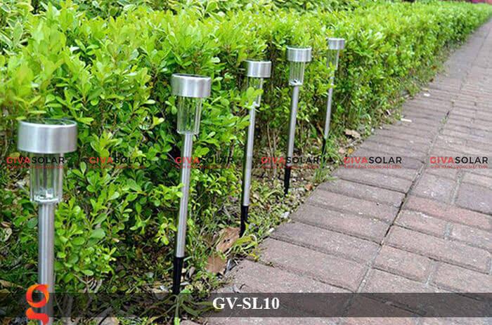 Đèn led sân vườn năng lượng mặt trời GV-SL10 12