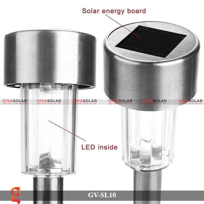 Đèn led sân vườn năng lượng mặt trời GV-SL10 2