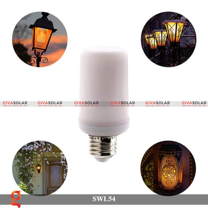 Đèn led trang trí tạo hình ngọn lửa GV-SWL54 2