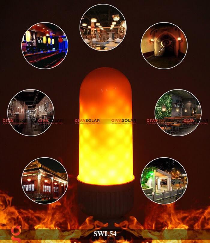 Đèn led trang trí tạo hình ngọn lửa GV-SWL54 8