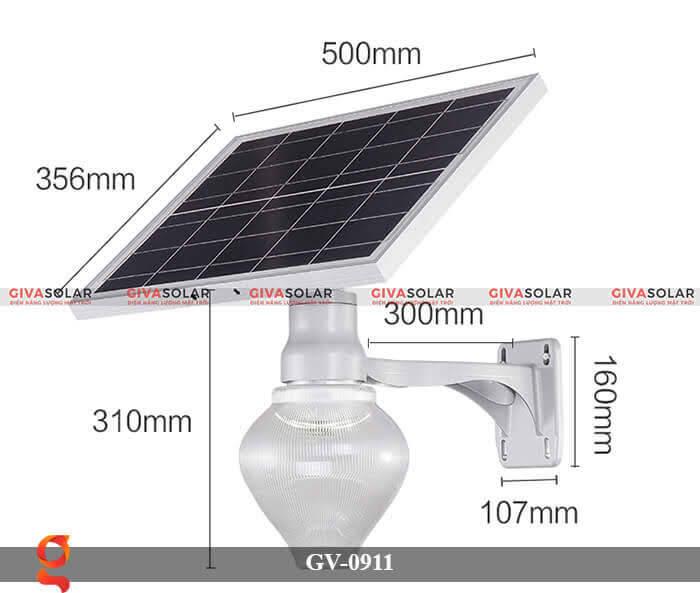 Đèn led treo tường năng lượng mặt trời GV-0911 1