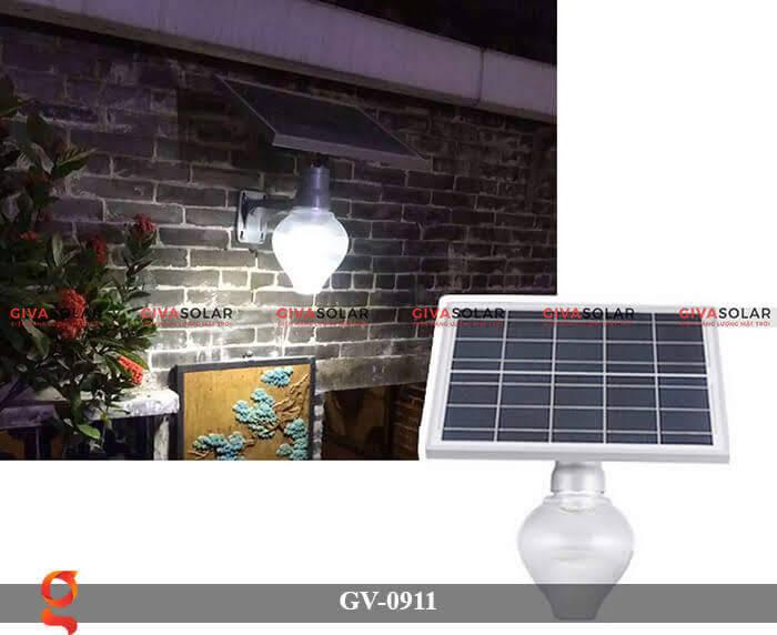 Đèn led treo tường năng lượng mặt trời GV-0911 3