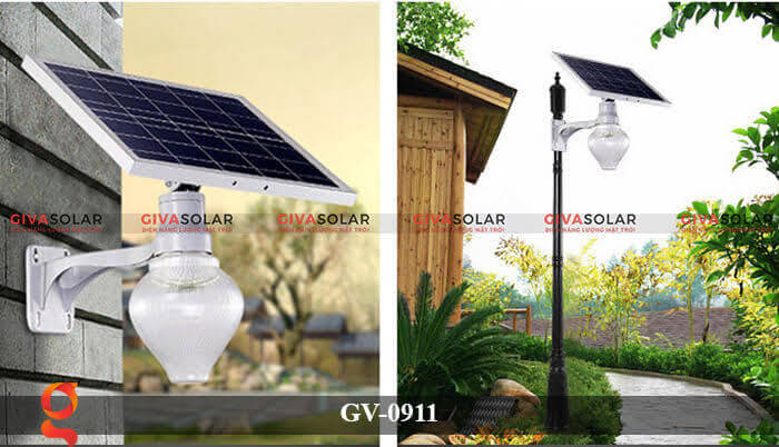 Đèn led treo tường năng lượng mặt trời GV-0911 4