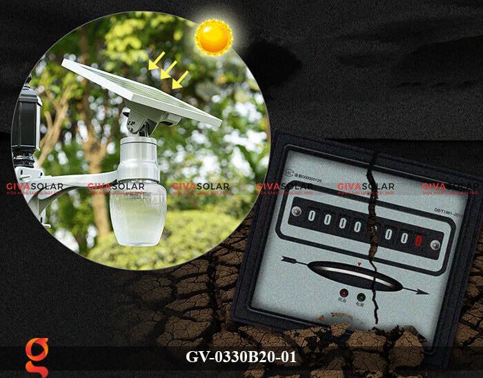 Đèn chiếu sáng đường năng lượng mặt trời GV-0330B20-01 11