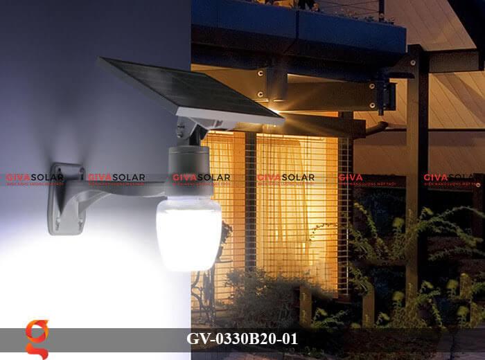 Đèn chiếu sáng đường năng lượng mặt trời GV-0330B20-01 12