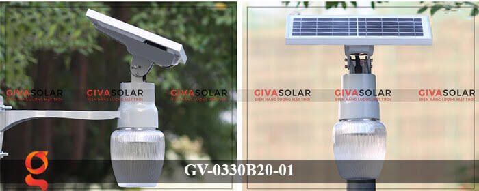Đèn chiếu sáng đường năng lượng mặt trời GV-0330B20-01 5