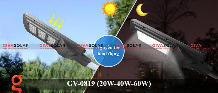 Đèn chiếu sáng đường phố năng lượng mặt trời GV-0819 20W 40W 60W 10