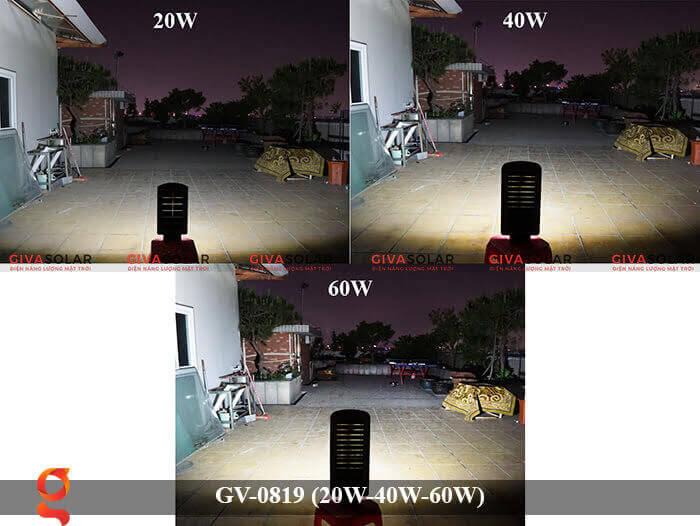 Đèn chiếu sáng đường phố năng lượng mặt trời GV-0819 20W 40W 60W 12