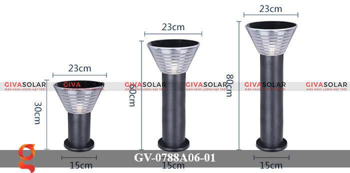 Đèn năng lượng mặt trời trang trí sân vườn GV-0788A06-01 15