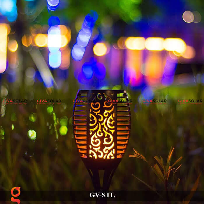 Đèn ngọn lửa trang trí năng lượng mặt trời GV-STL 4