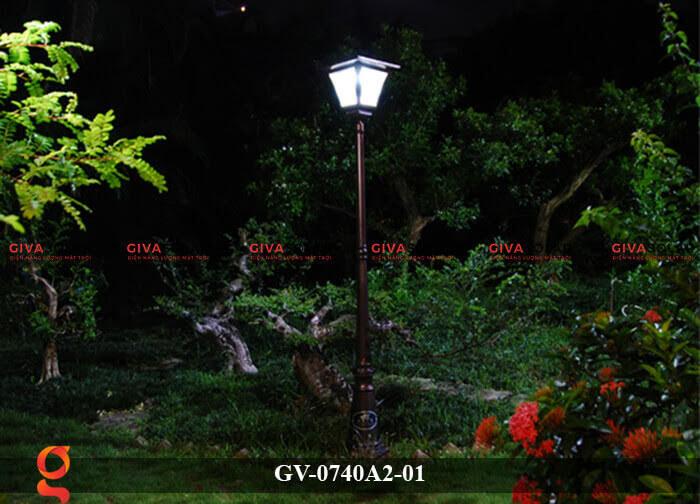 Đèn sân vườn năng lượng mặt trời GV-0740A2-01 2
