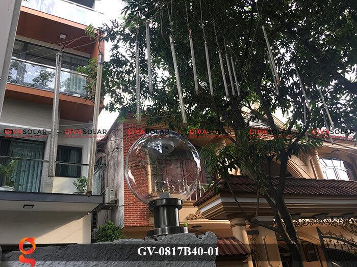 Đèn trang trí trụ cổng năng lượng mặt trời GV-0817B40-01 8