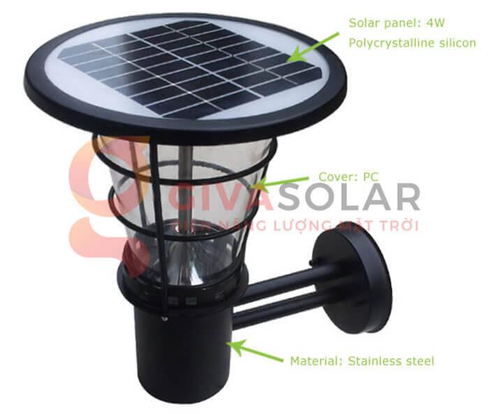 Đèn treo tường năng lượng mặt trời GV-2602B 5
