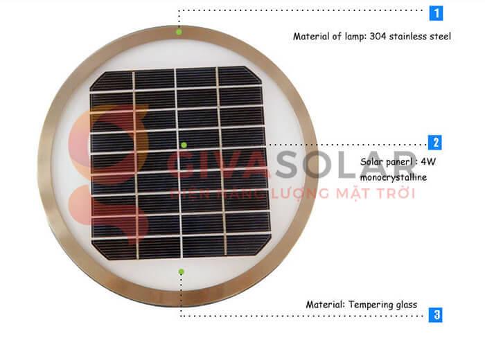 Đèn treo tường năng lượng mặt trời GV-2602B 6