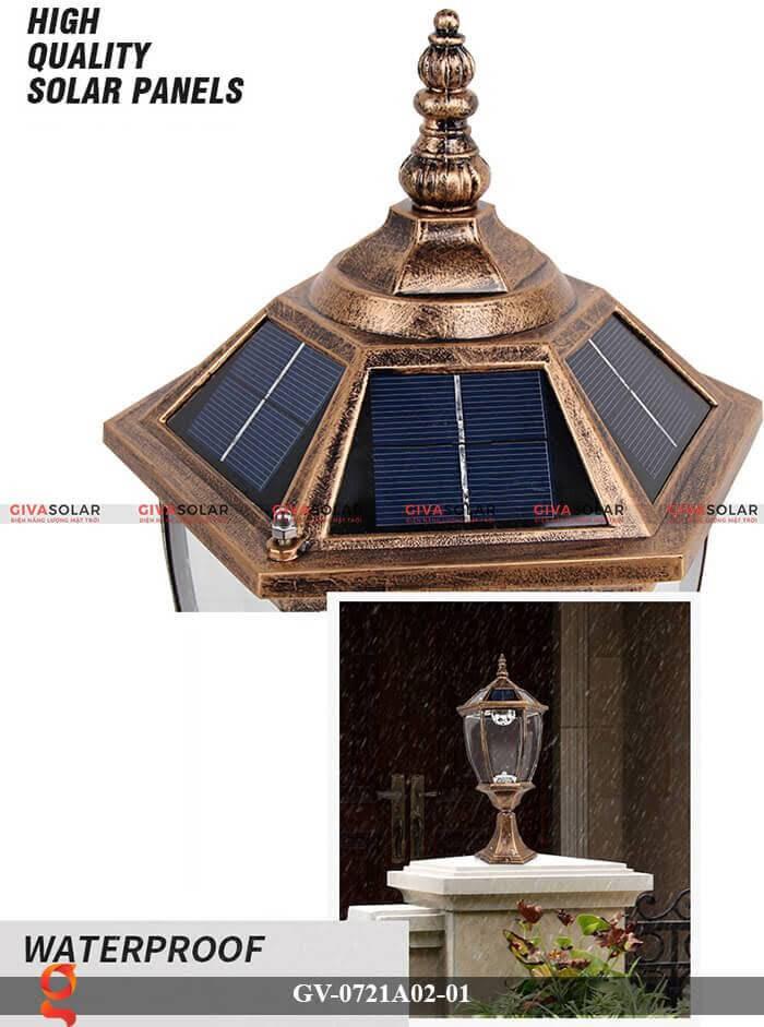 Đèn trụ cổng năng lượng mặt trời GV-0721A02-01 2