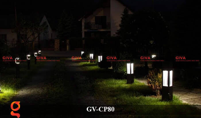 Đèn trang trí sân vườn cao cấp năng lượng mặt trời GV-CP80 4