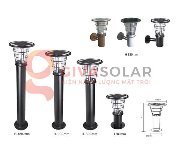 Các loại đèn sân vườn năng lượng mặt trời 1