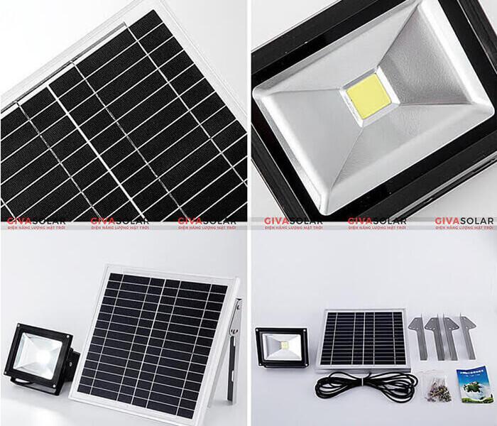 Cấu tạo đèn pha năng lượng mặt trời
