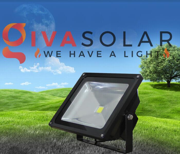 Đèn pha năng lượng mặt trời sử dụng năng lượng xanh
