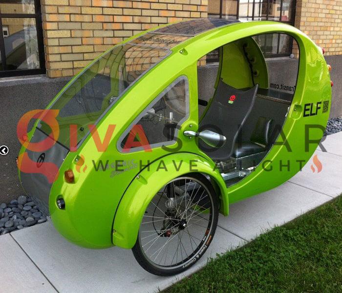 Xe đạp lai ô tô ELF Velomobile chạy bằng năng lượng mặt trời