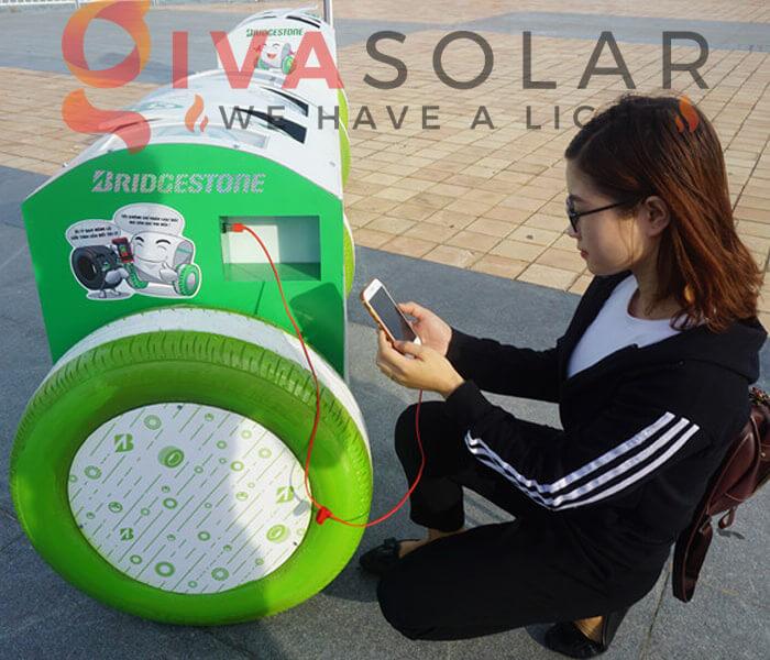 Thùng rác năng lượng mặt trời