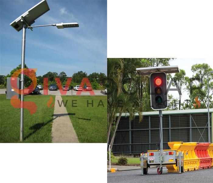 Ứng dụng của pin mặt trời trong điều khiển giao thông