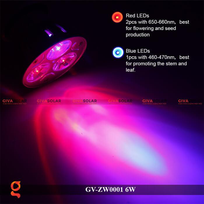 Bóng đèn Led quang hợp GV-ZW0001 6W 4