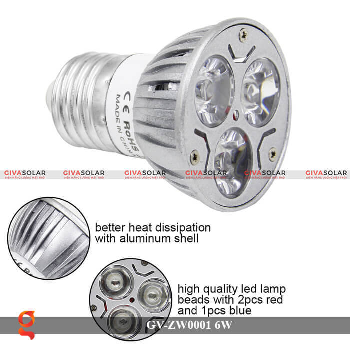 Bóng đèn Led quang hợp GV-ZW0001 6W 9