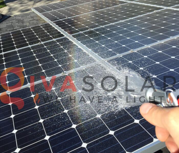 Lưu ý khi làm sạch tấm pin mặt trời