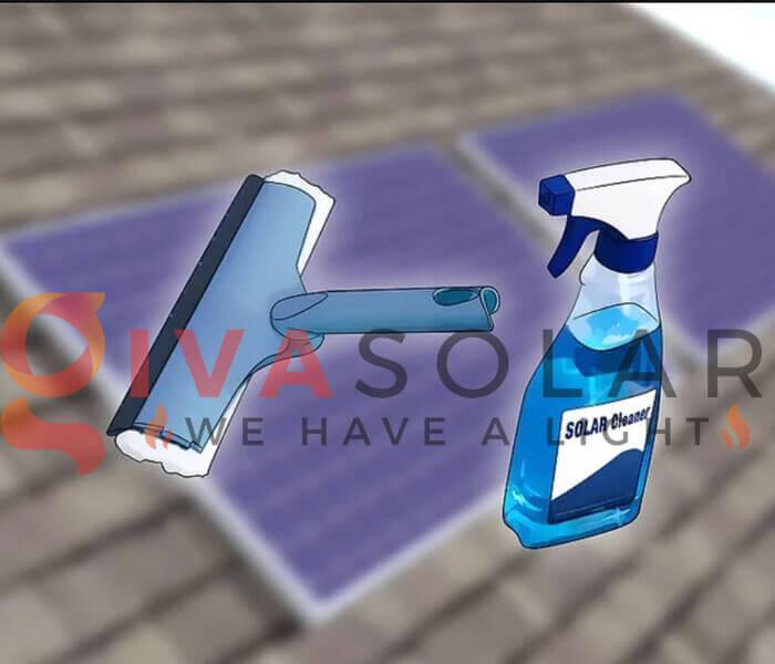Cách làm sạch pin năng lượng mặt trời 1
