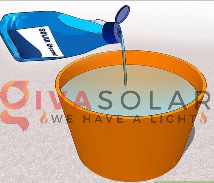 Cách làm sạch pin năng lượng mặt trời 2