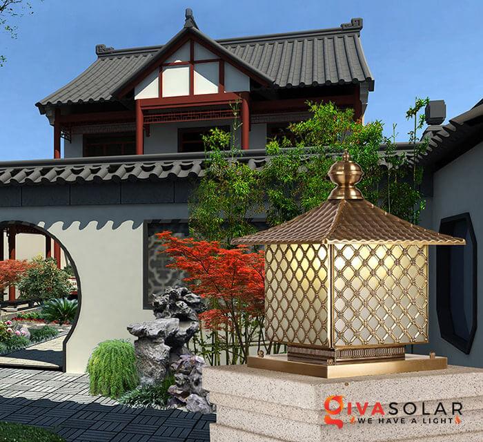 Đèn trụ cổng năng lượng mặt trời 4